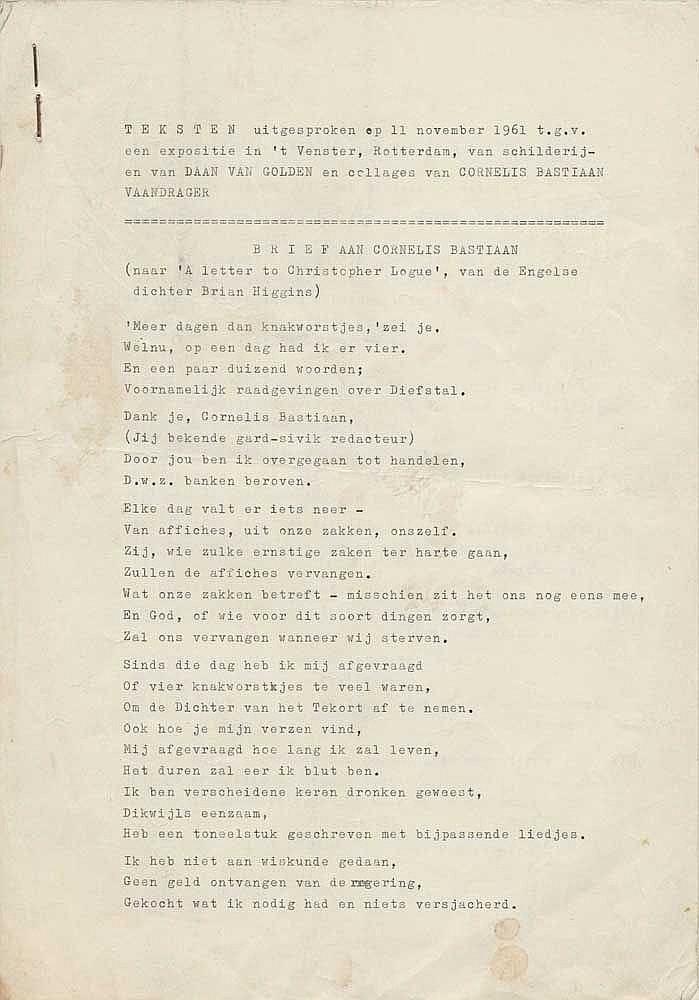 Sleutelaar Hans 1935 Buddingh Cees