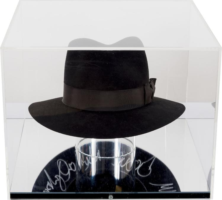 5dd3619601a64 The signed black hat Michael Jackson donated to UNICEF