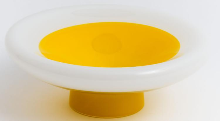 Remarkable yellow and white bowl by Floris Meydam