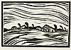 Landscape, woodcut by Peter van den Braken, Peter Anthonius