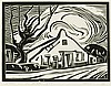 Farm, woodcut by Peter van den Braken, Peter Anthonius