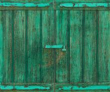 Illusion of weathered shutters created by Har Sanders