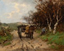 Dune landscape with horse cart