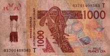 Meschac Gaba's West African 1000 franc note