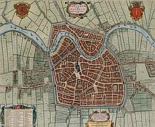 Haarlem in Kennemer Voeten & Rhynlandsche Roeden printed by Joan Blaeu
