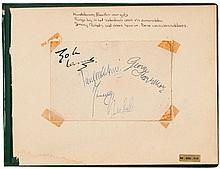 Original autographs of The Beatles