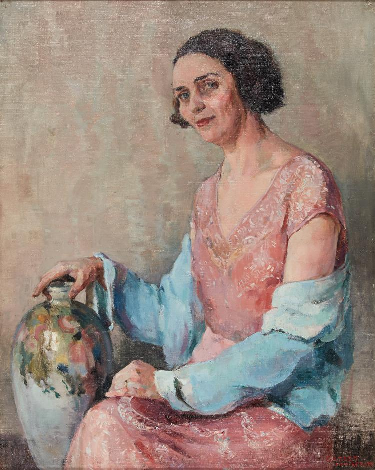 Large portrait of a lady by Baskett