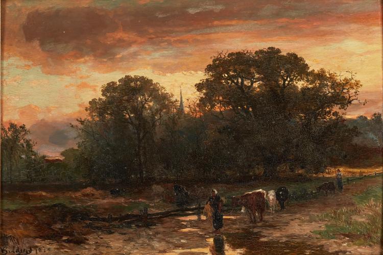 J.W. Bilders - Return of the cattle