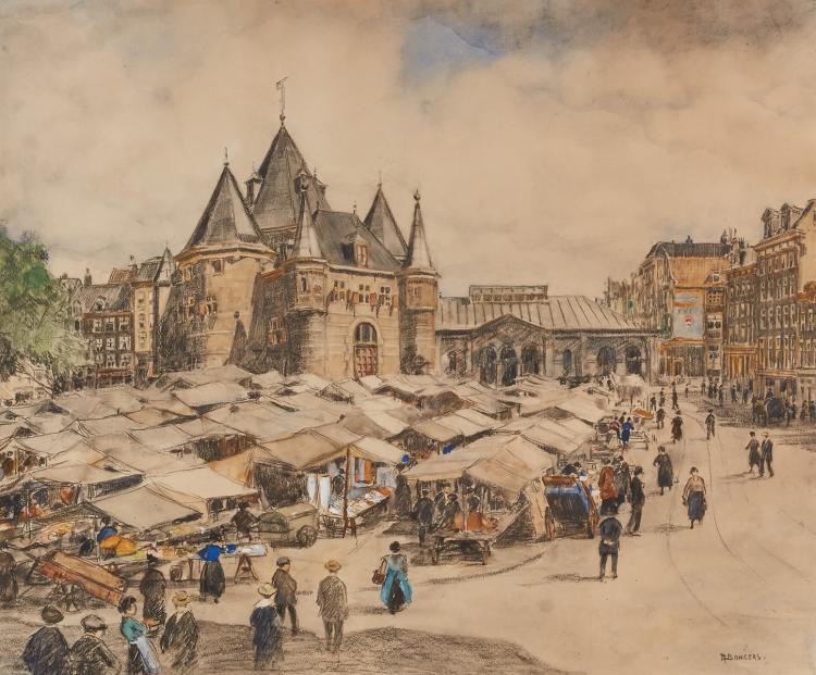 Beautiful view on the Nieuwmarkt by Bongers