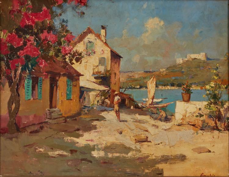 Antonietta Brandeis - Sunny street on the seaside