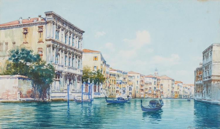 View on the Canal Grande by Antonietta Brandeis