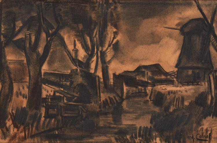 Large charcoal drawing by Colnot