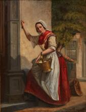 Fish seller ringing the bell by Van Hove