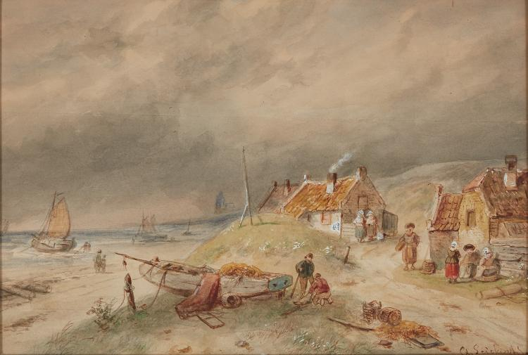 Nice watercolour by Charles Leickert