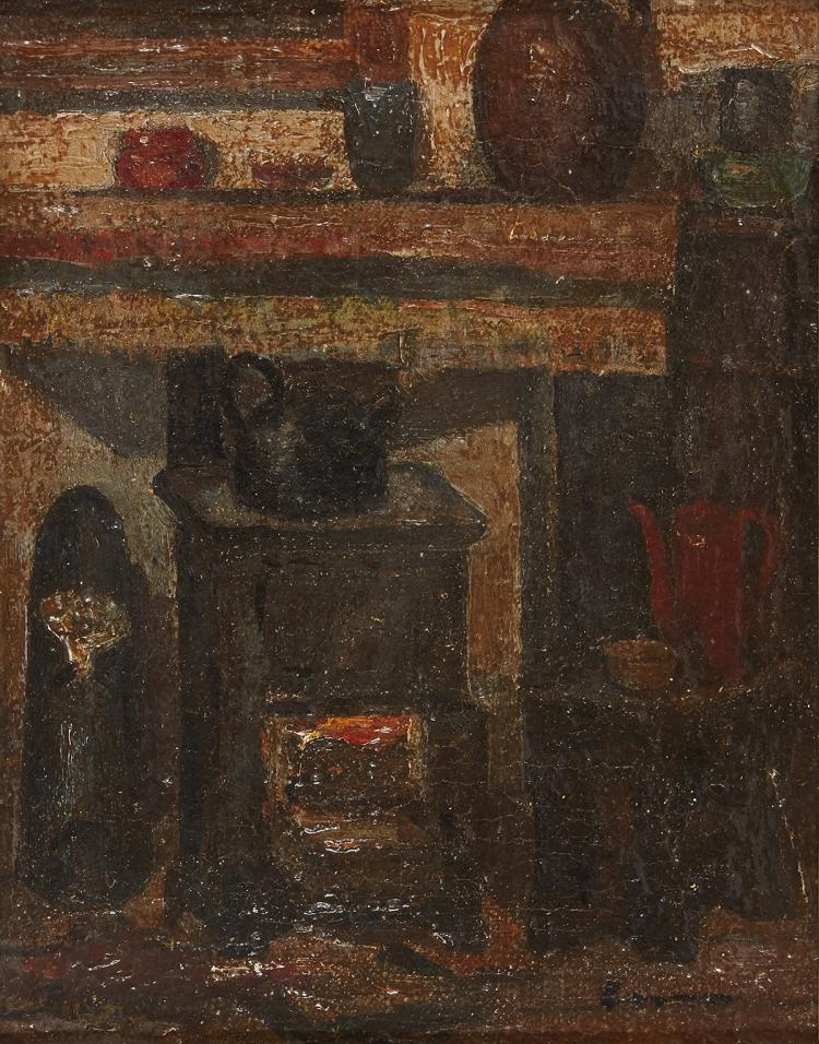 Jasper Pasman, interior with stove