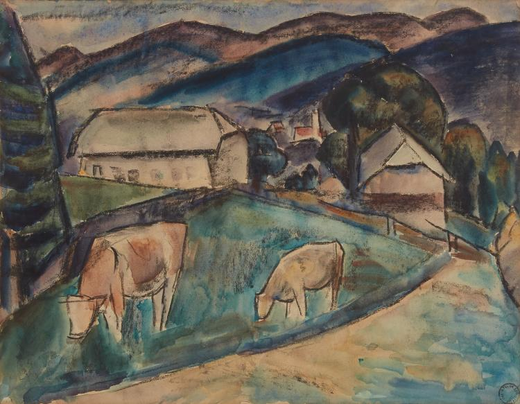 Cows in Mallorca by Leo Gestel