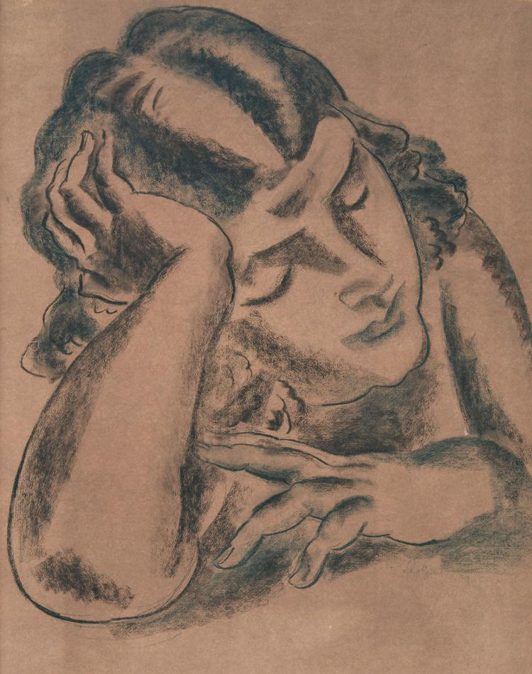 Nice portrait of a young girl by Leo Gestel