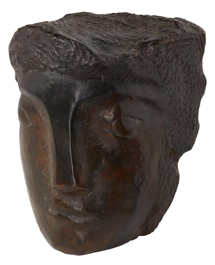 Bronze head by Eddy Gheress