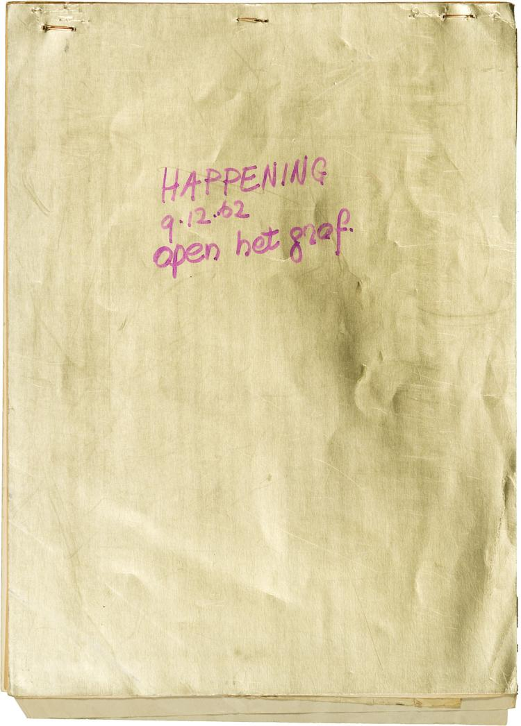 Ephemeral programme for the first 'happening', Open het graf! (1962)