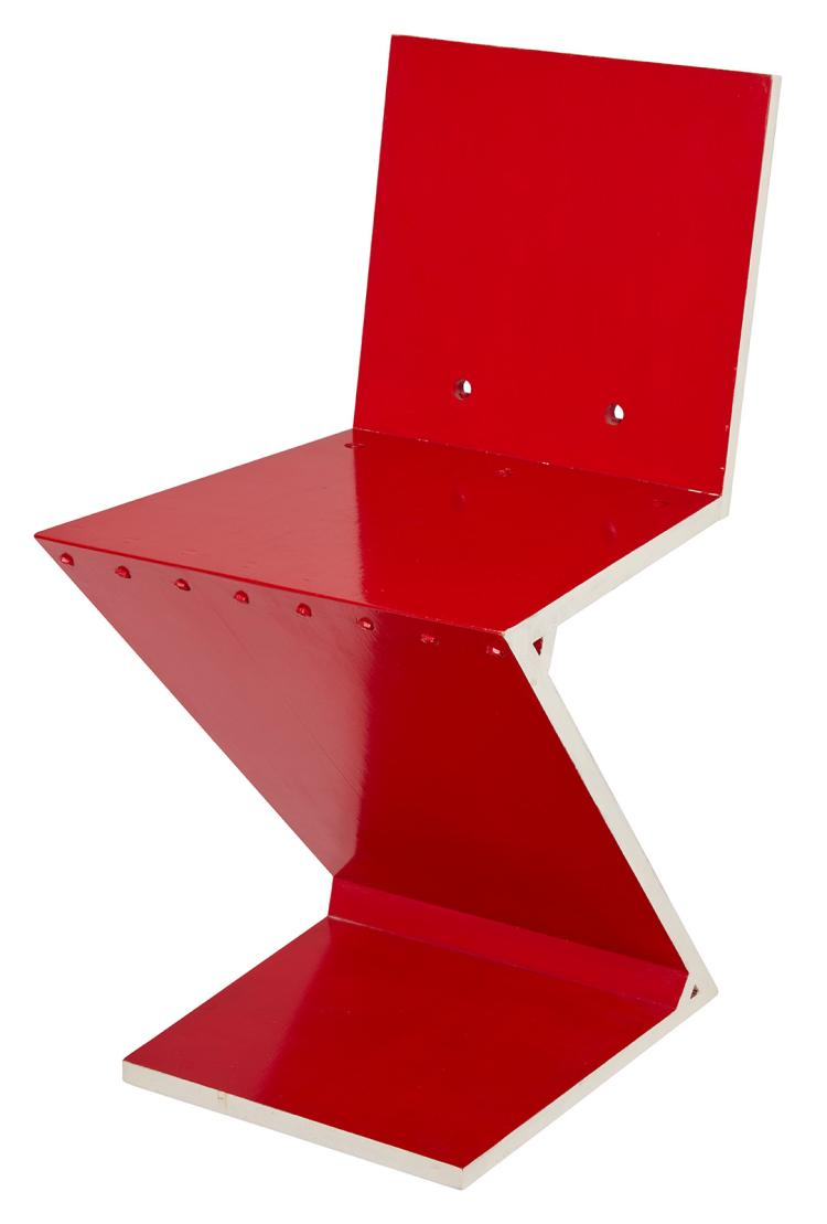 Red Zig Zag Chair By Gerrit Rietveld