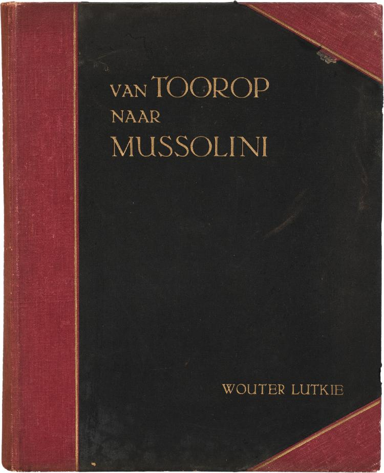 With a reproduction of Mussolini's inscription to Toorop