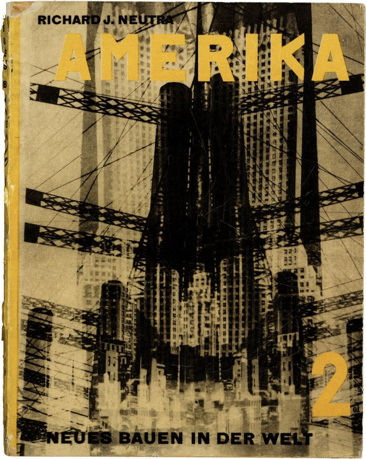 Modern architecture in America, book design by El Lissitzky (1930)