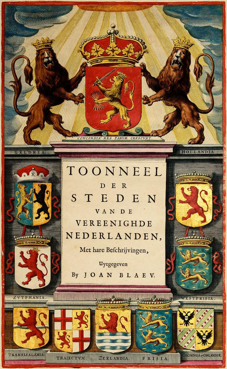 Superb copy of Blaeu's Stedenboek, his famous town atlas of Holland