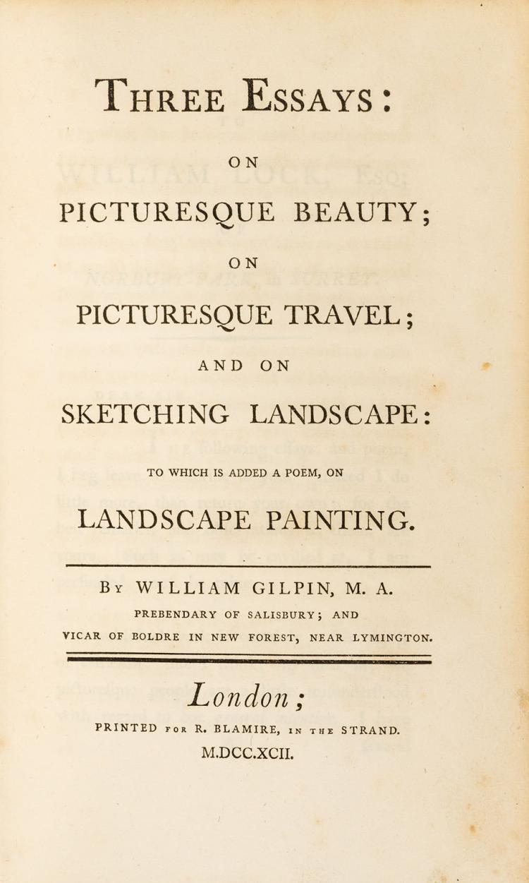 william gilpin essays on the picturesque The life and work of william gilpin (1724-1804) master of the picturesque and vicar of boldre.