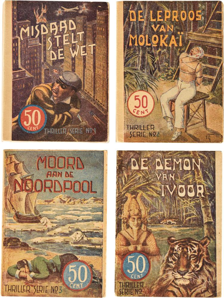Pulp fiction by W.F. Hermans, all published as Fjodor Klondyke