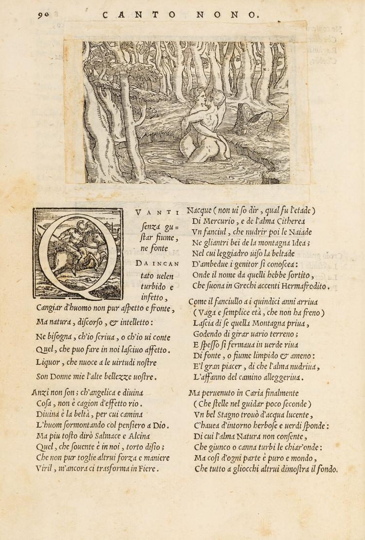 Venice 1553, Rusconi's rarissime Ovid with over 150 woodcuts