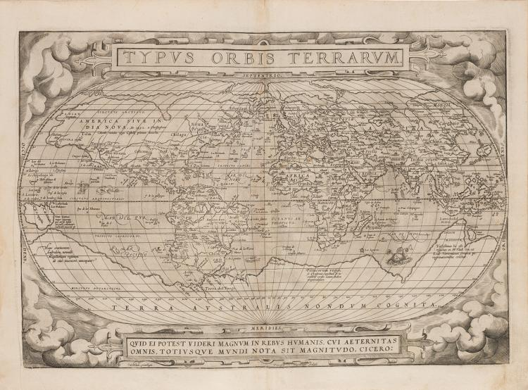 The first ever, Ortelius' world atlas (1571, second edition)