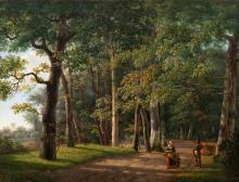 Ambiguous scene in the woods attributed to Renard