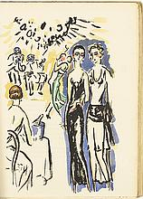 28 pochoirs by Van Dongen, inscribed 'amicalement'