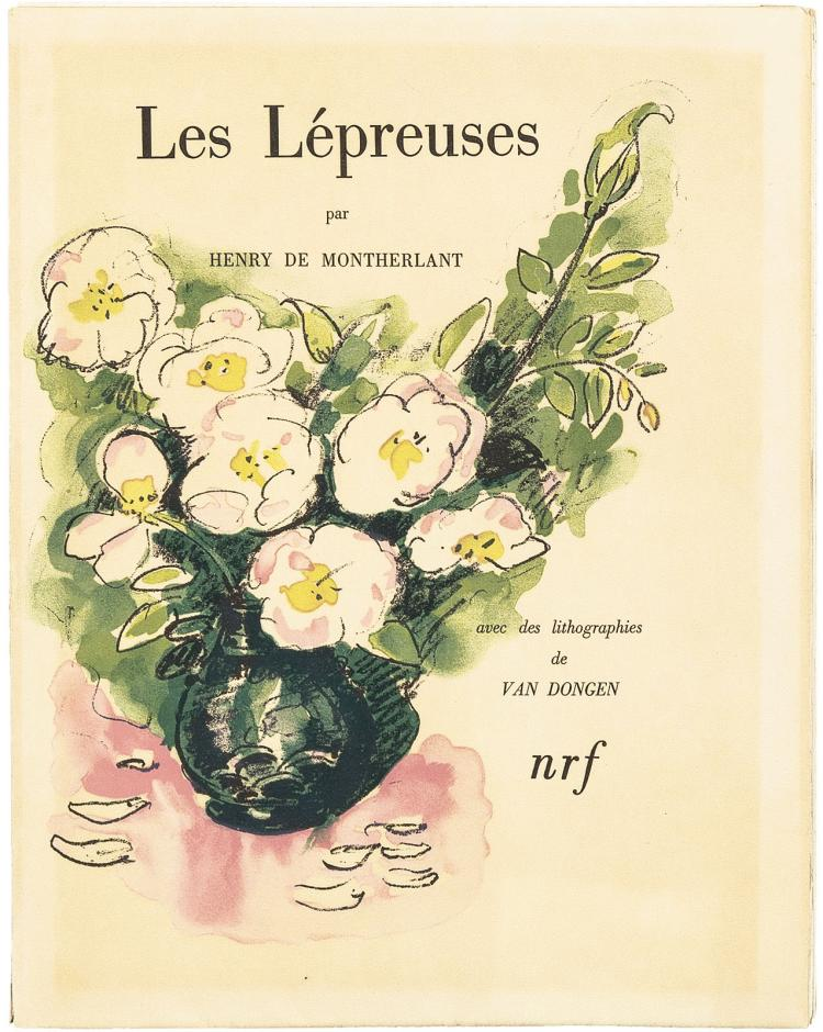 25 lithographs by Van Dongen for Montherlant's Lépreuses