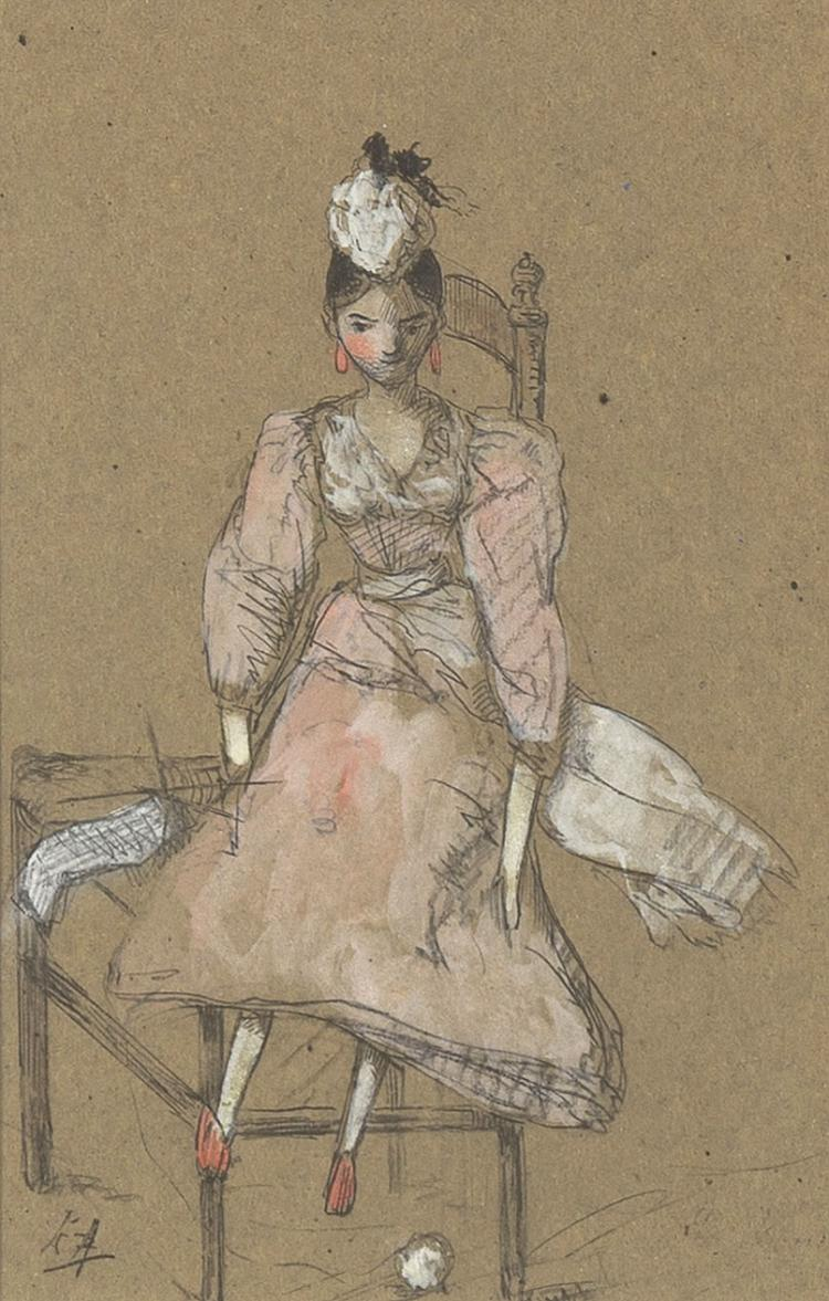 Doll on a chair, charming work by Lizzy Ansingh