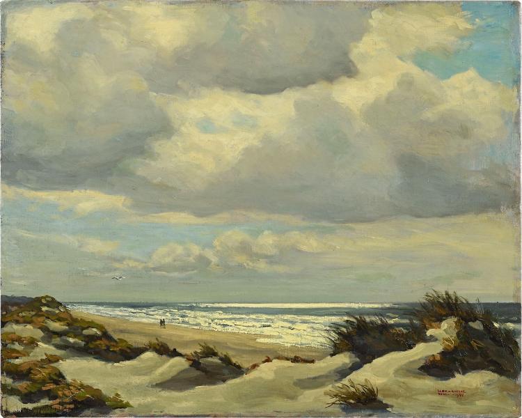 Very nice landscape of Texel by Blok van der Velden