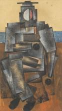A collection of three cubist drawings