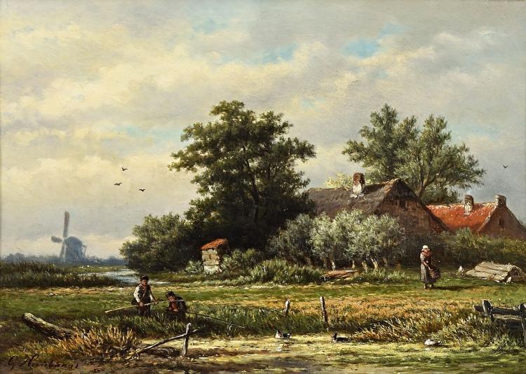 Fine painting by Heerebaart, very nicely framed