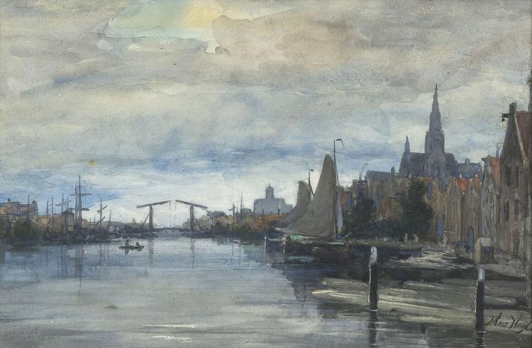 Very nice view of the Prinseneilandsgracht by Marinus Heijl