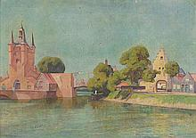 Very characteristic view of Zierikzee by Jan Heyse