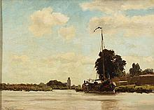 Charming view of Dordrecht by Jacob Hollestelle