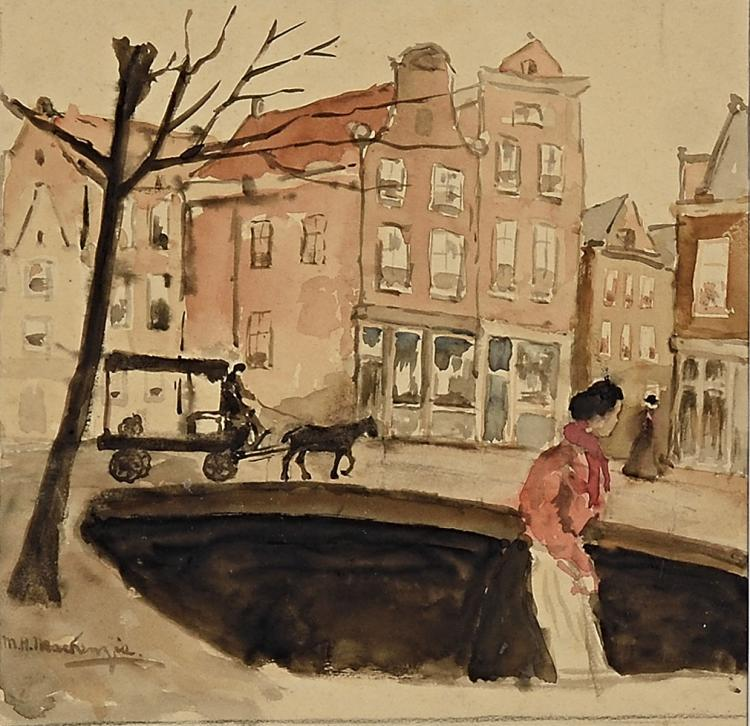 Charming view of a canal in Amsterdam by Mackenzie