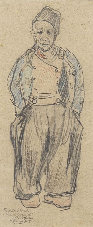 Volendammer Groote Frerik with 'ruigie' by M.H. Mackenzie