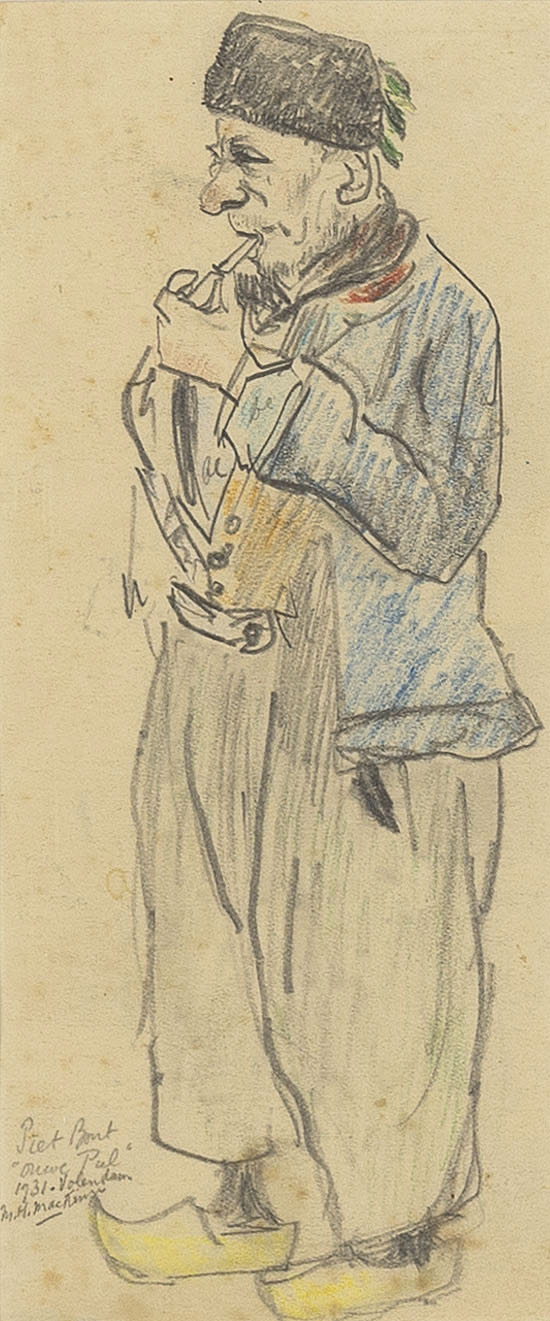 'Ouwe Pul', a well-known fisherman from Volendam by Mackenzie