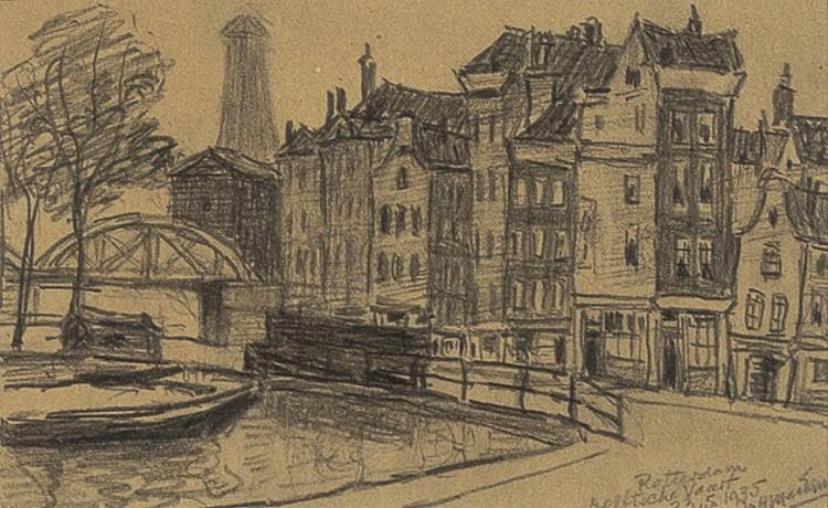 Rotterdam Delftsche Vaart as seen by M.H. MacKenzie