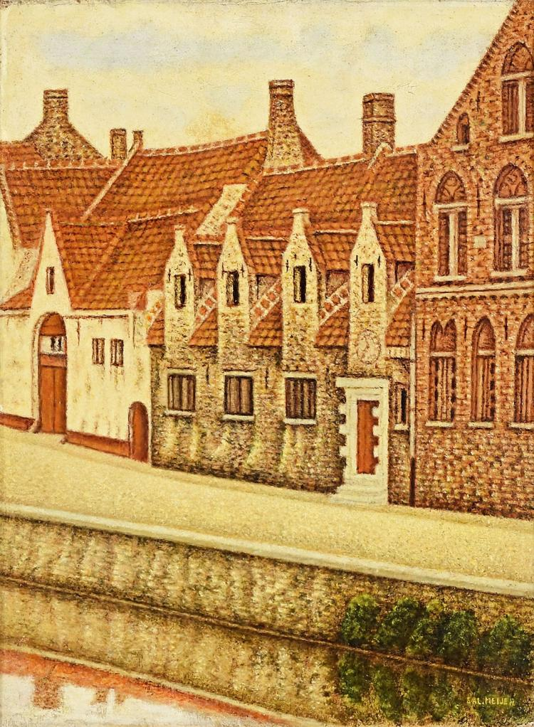 Charming Bruges canal scene by Sal Meijer