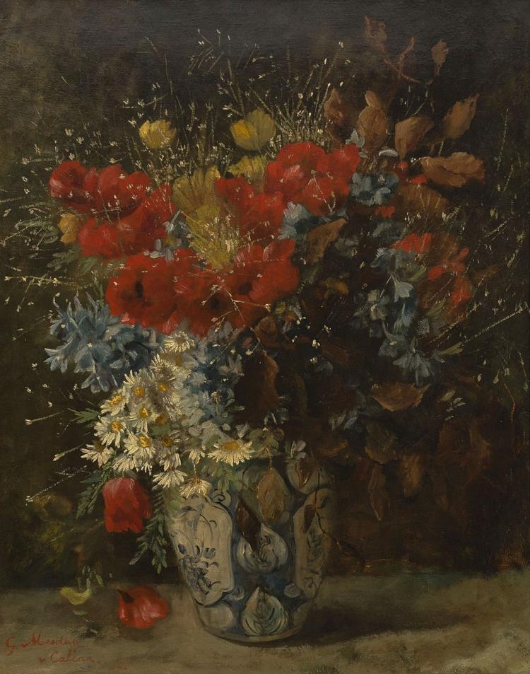 Ravissant still life with flowers by Geesje Mesdag - van Calcar