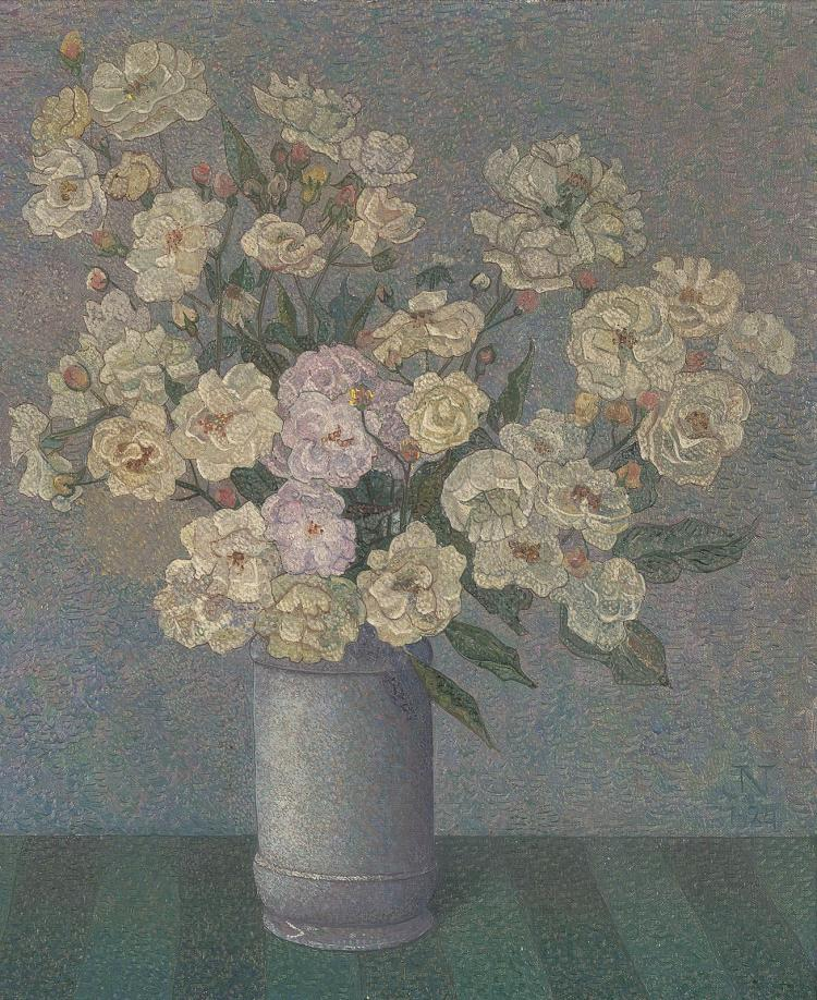 Still Pictures Are All Very Fine And >> Very Fine Pointillist Still Life By Jakob Nieweg