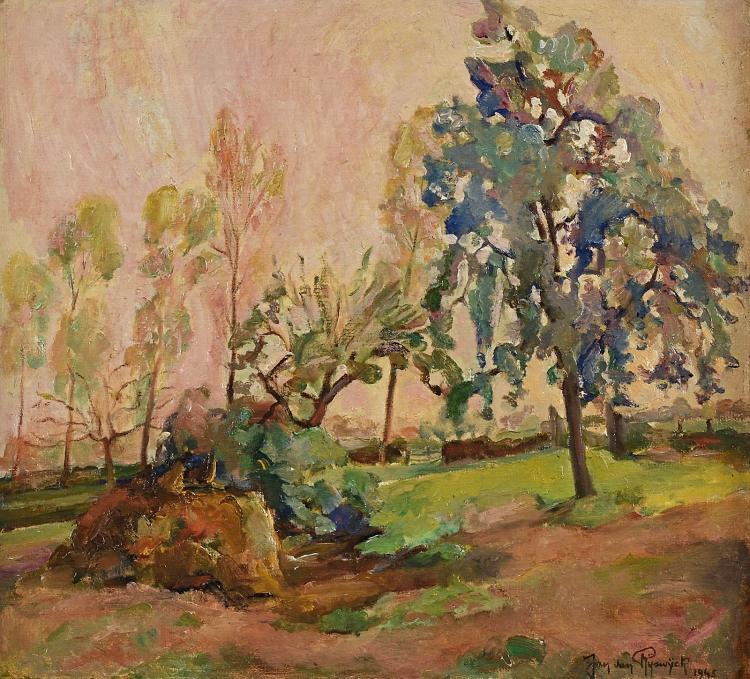 Roeselare in spring, a bright painting by Jan van Rijswijck
