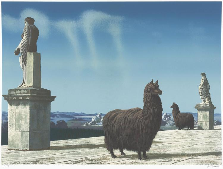 The complete portfolio with 6 signed screen prints by Carel Willink